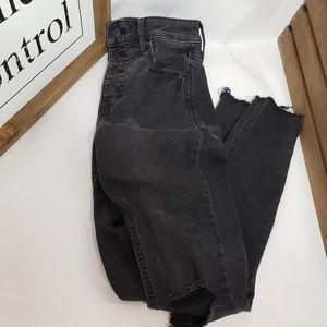 Black High Rise Old Navy Rockstar Jeans